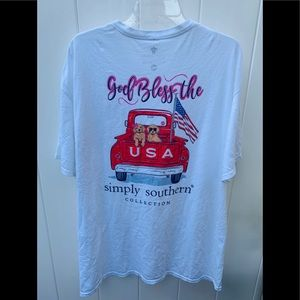 Xlarge Simply Southern T-shirt god bless the USA